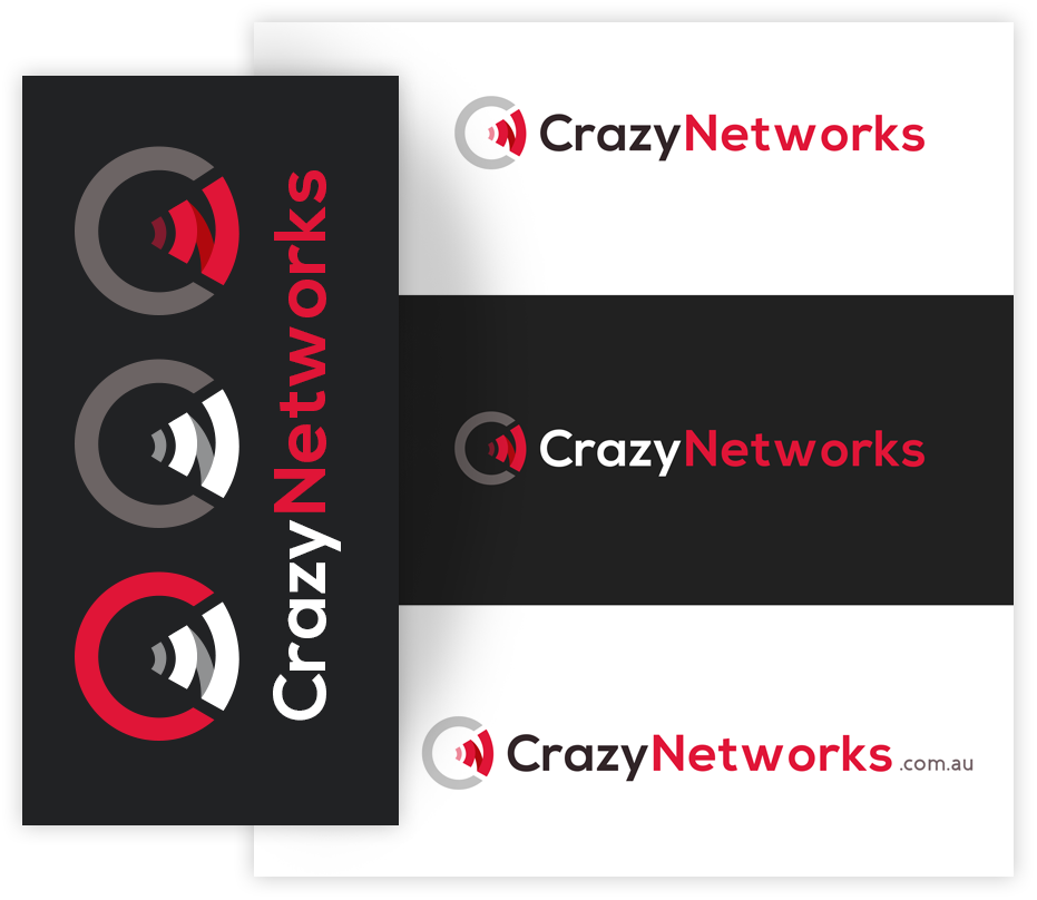Crazy network logo design