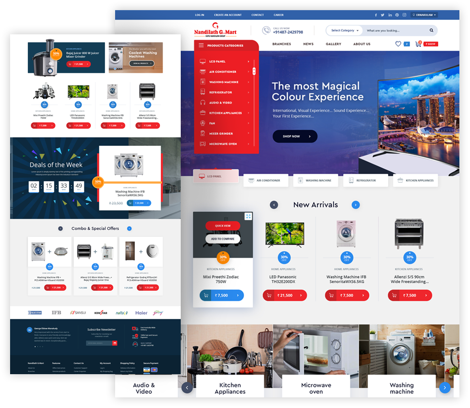 Nandilath G-mart website megento development