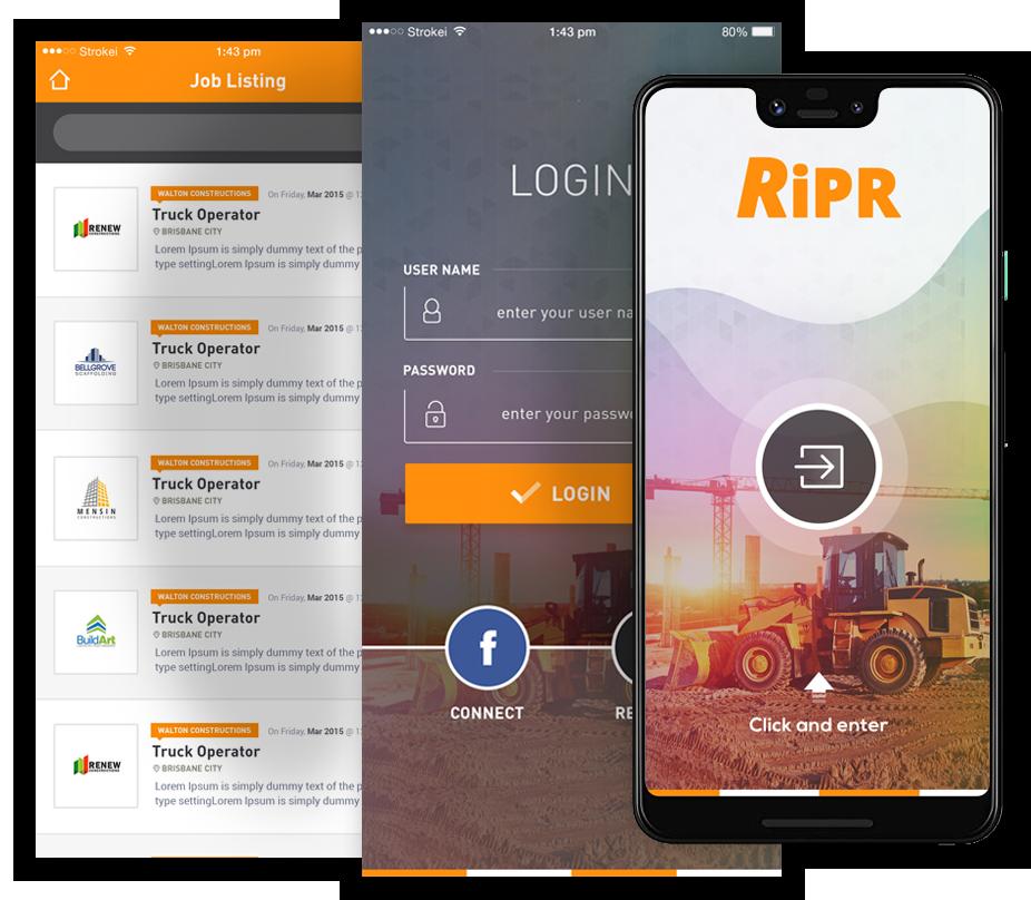RIPR mobile app development